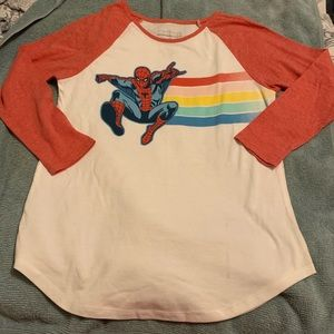 SpiderMan Girls Size XL 14 16 New Raglan Shirt